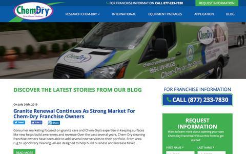 Screenshot of Blog chemdryfranchise.com - News & Blog » Chem-Dry Franchise - captured Aug. 20, 2019