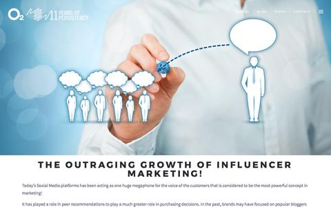 The Outraging Growth of Influencer Marketing! - O2 Advertising