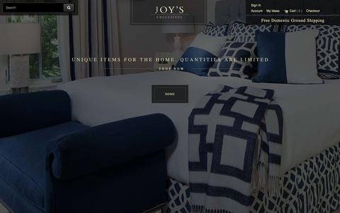 Screenshot of Products Page joytribout.com - Joy Tribout's Exclusives - Joy Tribout's Exclusives - captured Oct. 14, 2018