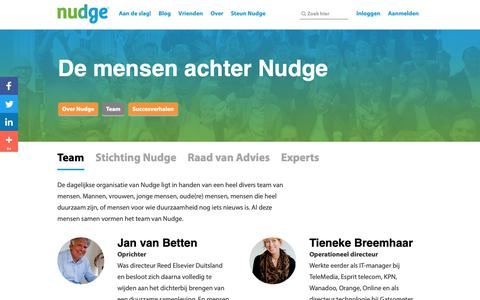 Screenshot of Team Page nudge.nl - Nudge team - captured Nov. 9, 2018
