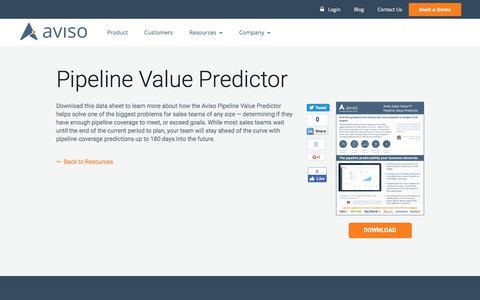 Pipeline Value Predictor | Aviso