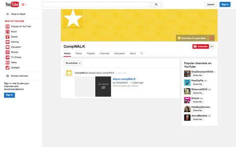 Screenshot of YouTube Page youtube.com - CompWALK  - YouTube - captured Oct. 22, 2014