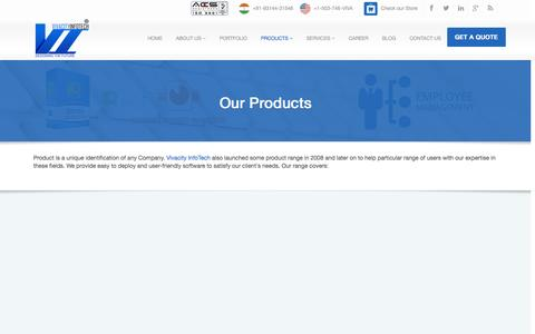 Screenshot of Products Page vivacityinfotech.com - Check our full product range - Vivacity InfoTech Pvt. Ltd. - captured Sept. 24, 2014