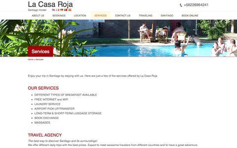 Screenshot of Services Page lacasaroja.cl - Services | La Casa Roja - captured Oct. 1, 2014