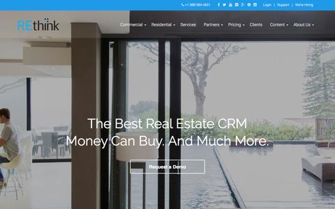Screenshot of Home Page rethinkcrm.com - REthink Real Estate Software for Brokers and AgentsREthink CRM - captured Feb. 24, 2016