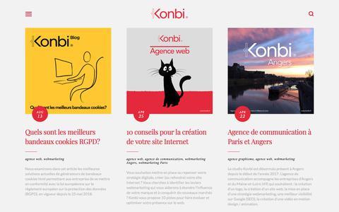 Screenshot of Blog konbi.fr - Konbi Blog - Actualités design graphique   Konbi studio - captured Sept. 20, 2018