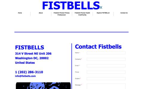 Screenshot of Privacy Page Contact Page fistbells.com - Contact Us - captured Oct. 23, 2014