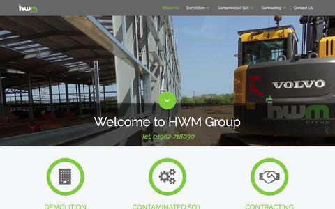Screenshot of Case Studies Page hwmgroup.co.uk - Home - captured Nov. 27, 2017