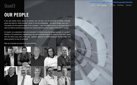 Screenshot of Team Page quad3.com - Quad 3 |   Our People - captured Sept. 28, 2018