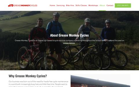Screenshot of About Page greasemonkeycycles.com - About Us | Grease Monkey Cycles - captured Nov. 5, 2018