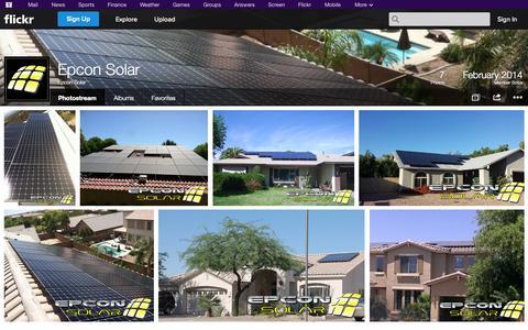 Screenshot of Flickr Page flickr.com - Flickr: Epcon Solar's Photostream - captured Oct. 22, 2014