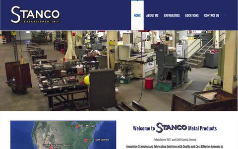 Screenshot of Home Page stancometal.com - Stanco Metal - captured Aug. 16, 2015