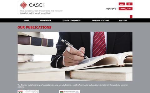 Screenshot of Testimonials Page casci.ch - casci | OUR PUBLICATIONS - captured Oct. 8, 2017