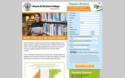 Screenshot of Landing Page bryantstratton.edu - Bryant & Stratton College - Online Degree Programs - captured June 17, 2016