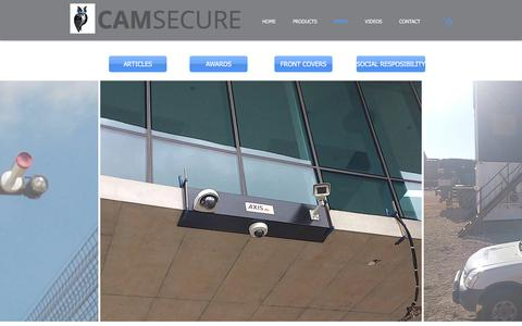 Screenshot of Press Page camsecure.co.za - Camsecure (Pty) Ltd | PRESS - captured July 11, 2017