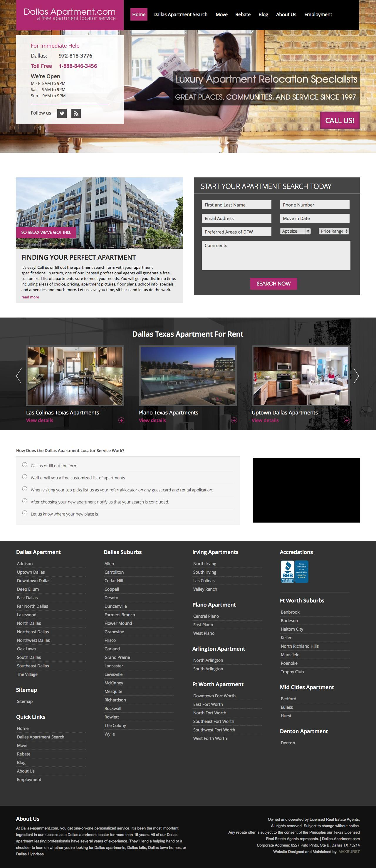 Screenshot of dallas-apartment.com - Dallas Apartment Locator | Dallas Apartment Finder | Dallas Apartment - captured July 27, 2015
