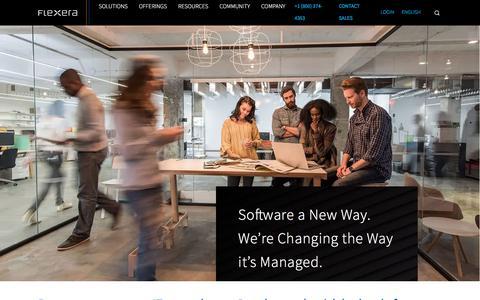 Screenshot of About Page flexera.com - About Flexera – IT Asset Management, Software Monetization, Open Source Management, IT Security | Flexera - captured April 23, 2018