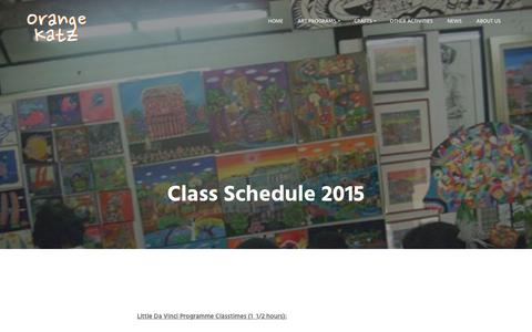 Screenshot of Contact Page orangekatz.com - Class Schedule 2015 | Orange Katz - Da Vinci Ampang - captured Feb. 28, 2016