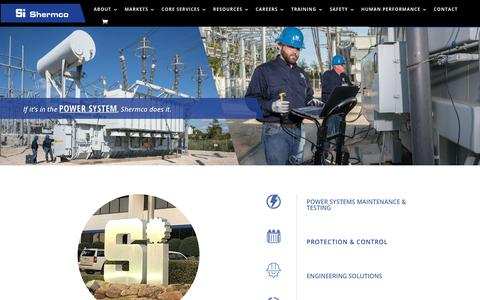 Screenshot of Home Page shermco.com - Shermco - Home Page - Shermco industries - captured Nov. 9, 2019