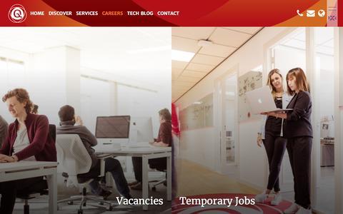 Screenshot of Jobs Page qualogy.com - Careers - Qualogy - captured July 21, 2018
