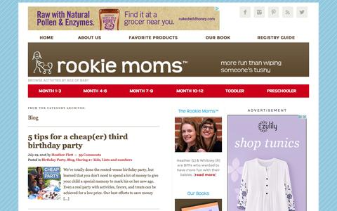Screenshot of Blog rookiemoms.com - Blog Archives - Rookie Moms - captured Aug. 14, 2016