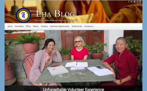 Screenshot of Blog lhasocialwork.org - Lha Social Work Blog | Latest news from LHA and it's volunteers - captured Sept. 19, 2015