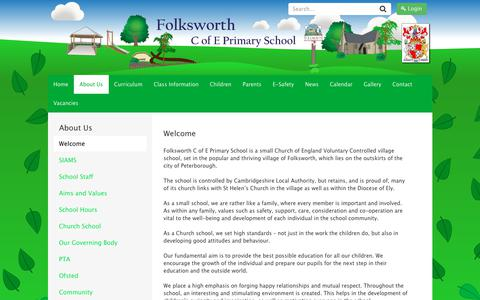 Screenshot of About Page eschools.co.uk - Welcome to Folksworth C of E Primary School - captured June 28, 2018