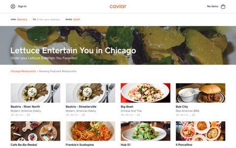 Lettuce Entertain You in Chicago | Caviar