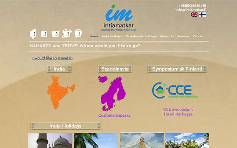 Screenshot of Home Page intiamatkat.fi - Intiamatkat - captured Sept. 30, 2014