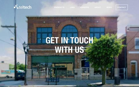 Screenshot of Contact Page teltech.co - TelTech - Contact Us - captured Feb. 18, 2016