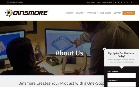 Screenshot of About Page dinsmoreinc.com - About Us | Dinsmore Inc. - captured Dec. 15, 2018