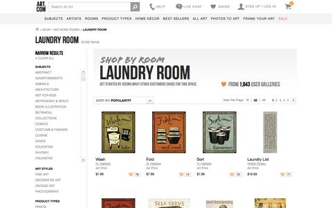 Art for Laundry Room at Art.com