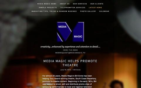 Screenshot of Press Page mediamagic.tv - Media Magic Video Production Services Latest News — Media Magic Video Production Services - captured Sept. 30, 2014