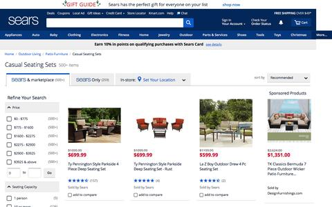 Patio Conversation Sets - Sears