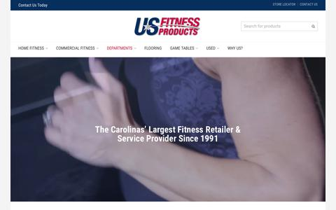 Screenshot of Home Page usfitness.com - US Fitness Products - captured Jan. 31, 2016