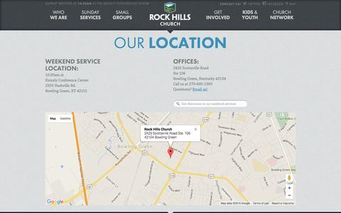 Screenshot of Contact Page Maps & Directions Page rockhillschurch.com - Rock Hills Church - captured May 22, 2016
