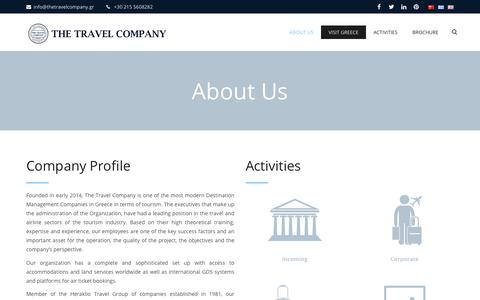 Screenshot of About Page thetravelcompany.gr - About Us | The Travel Company - captured July 21, 2019