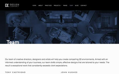 Screenshot of Team Page designcontact.com - Team - Design Contact - captured Nov. 24, 2016