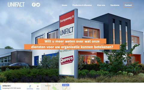 Screenshot of Contact Page unifact.eu - Contact - Unifact B.V. - Internetbureau Heerde - captured Dec. 8, 2016