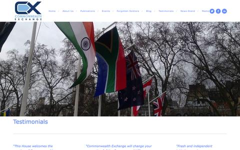 Screenshot of Testimonials Page commonwealth-exchange.org - Testimonials — Commonwealth Exchange - captured Sept. 30, 2014