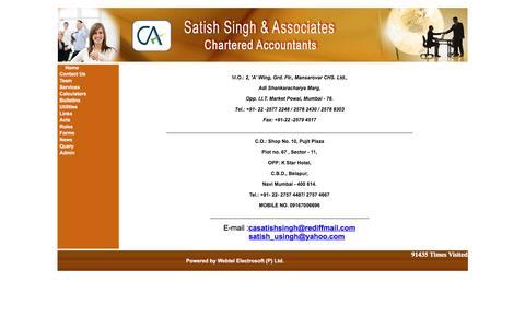 Screenshot of Contact Page casatishsingh.com - www.casatishsingh.com - captured Feb. 4, 2016