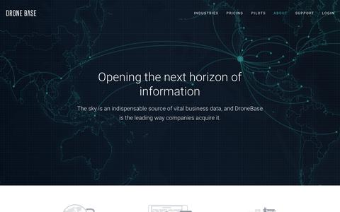 Screenshot of About Page dronebase.com - About Us | DroneBase - captured March 24, 2019
