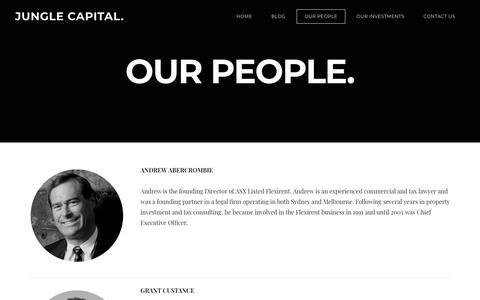 Screenshot of Team Page junglecapital.com.au - OUR PEOPLE - JUNGLE CAPITAL. - captured Sept. 20, 2018