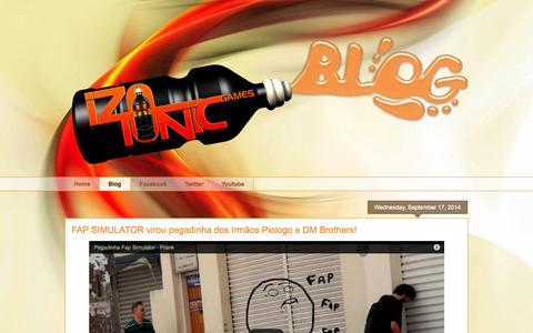 Screenshot of Blog izotonic.com.br - Izotonic Games - captured Oct. 6, 2014