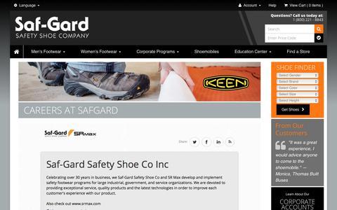 Screenshot of Jobs Page safgard.com - Careers at Safgard - captured Oct. 4, 2017