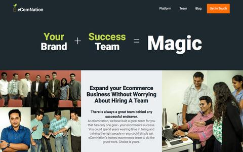Screenshot of Team Page 39shops.com - Modern Business - Start Bootstrap Template - captured Jan. 12, 2016