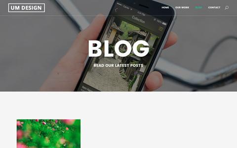 Screenshot of Blog umdesign.eu - UM Designe |   Blog - captured July 21, 2016
