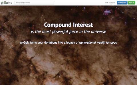 Screenshot of Signup Page giv2giv.org - giv2giv - captured Oct. 3, 2014