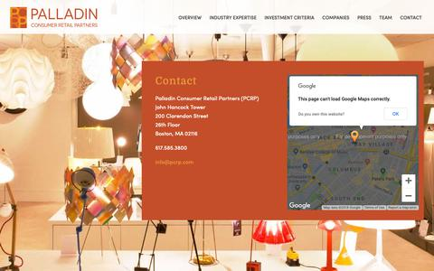 Screenshot of Contact Page pcrp.com - Contact | - captured Sept. 26, 2018
