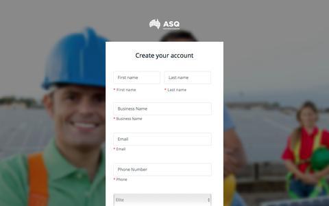 Screenshot of Signup Page australiansolarquotes.com.au - Signup for Australian Solar Quotes - captured May 31, 2017